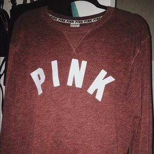 PINK! VS Maroon Crewneck
